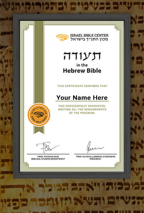 Certificate in the Jewish New Testament